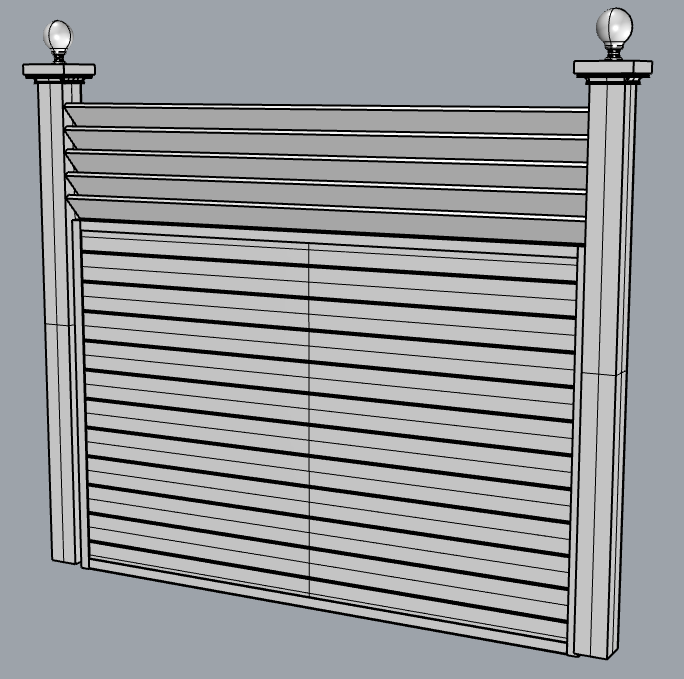 louver top fence