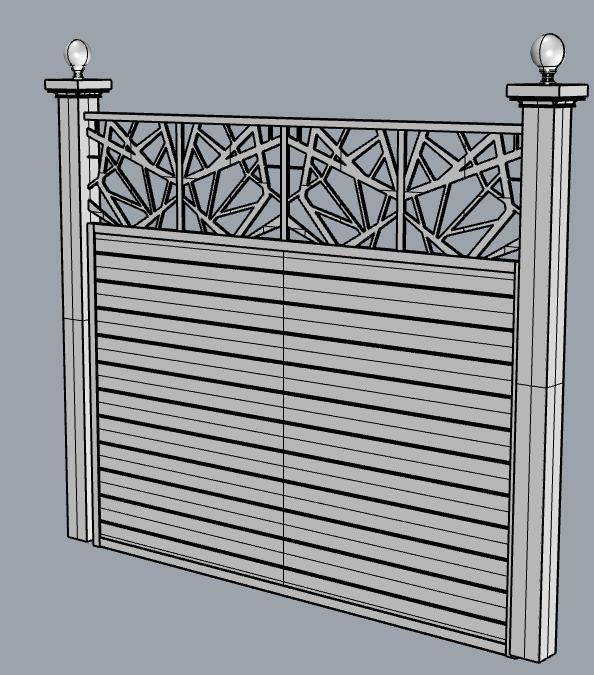 modern pattern fence